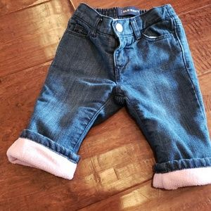 Pink fleece lined jeans